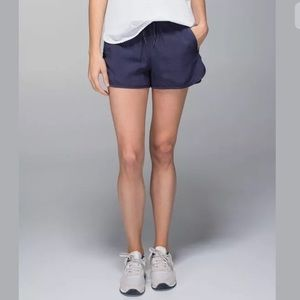 Lululemon Varsity  Tencel Shorts Blue 8